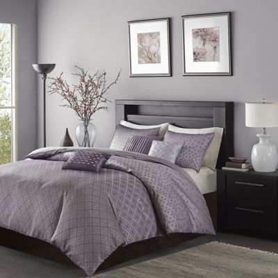 Madison Park Morris Polyester Jacquard 6-pc. Jacquard Duvet Cover Set