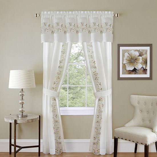 Fairfield Light-Filtering Rod-Pocket Set of 2 Curtain Panel