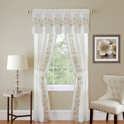 Fairfield 5-pc. Rod-Pocket Curtain Set
