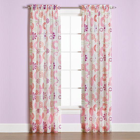 Saturday Knight Dream Light-Filtering Rod-Pocket Curtain Panel