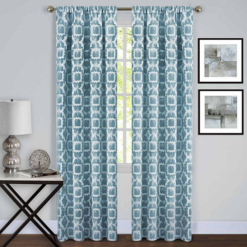 Tara Room Darkening Rod-Pocket Curtain Panel