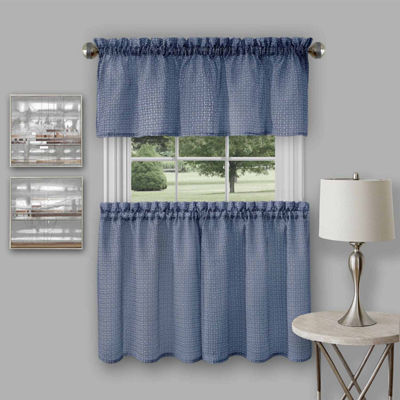 Richmond 3-pc. Rod-Pocket Kitchen Curtain Set
