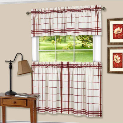 Bainbridge 3-pc. Rod-Pocket Kitchen Curtain Set