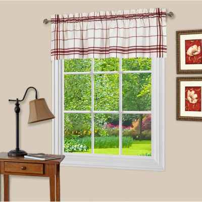 Bainbridge Rod-Pocket Kitchen Valance