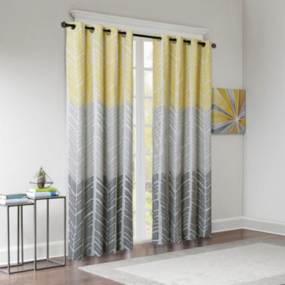 Intelligent Design Kennedy Blackout Grommet-Top Curtain Panel