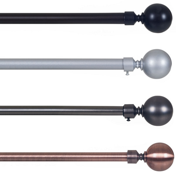 Sphere 3/4 IN Curtain Rod