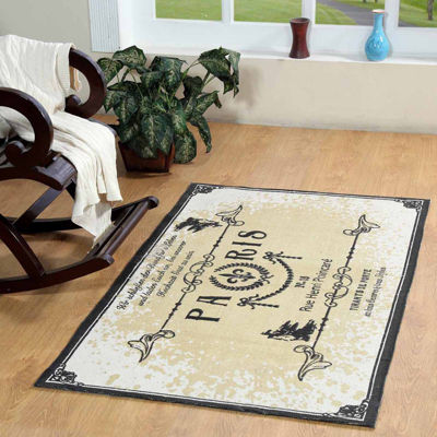 Printed Typography Rectangular Rugs