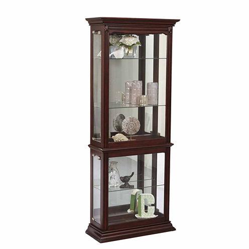 Home Meridian Mirrored Curio Curio Cabinet