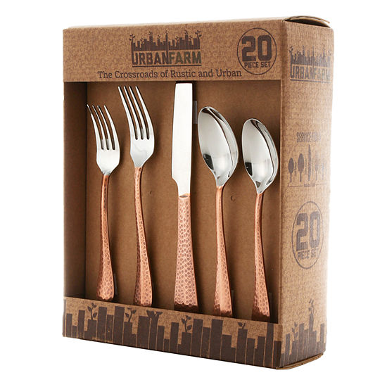 Thirstystone Collection Hammered Copper Plated 20-pc. Flatware Set