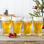 "Cathy's Concepts ""Beer Merry"" 4-pc. Pilsner Glasses"