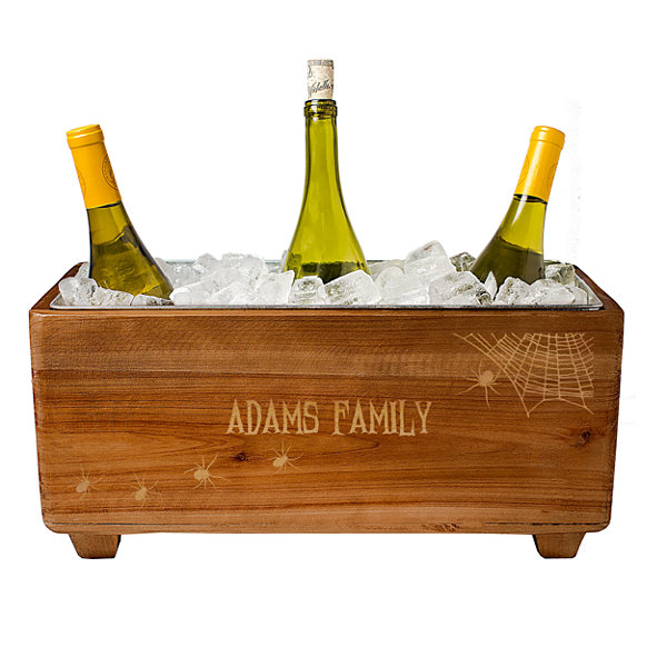 Cathy's Concepts Personalized Halloween Wooden Wine Trough