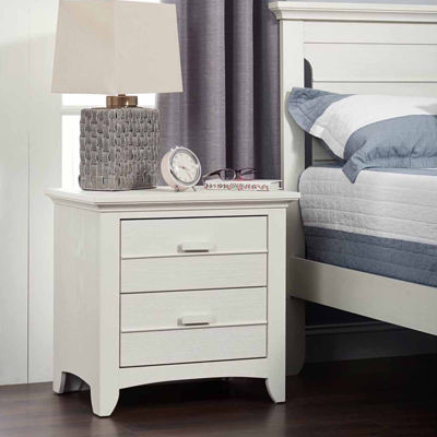 Ozlo Baby Crestood Nightstand- Oyster White