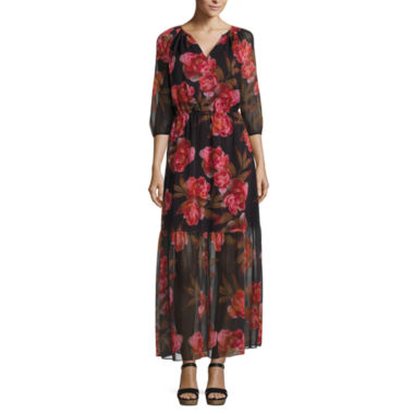 a.n.a Tiered Floral Maxi Dress