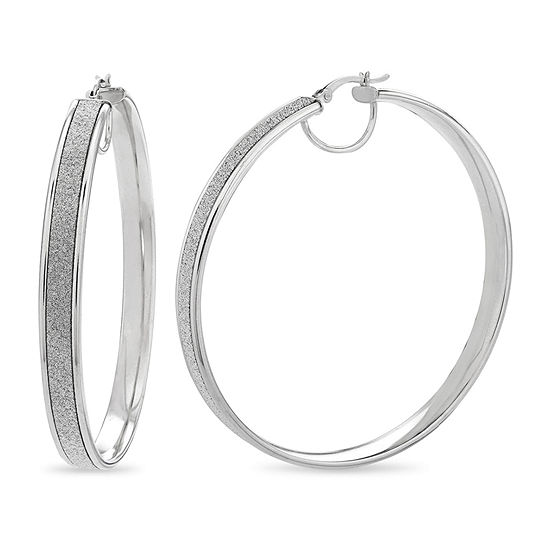 Sterling Silver Round Hoop Earrings