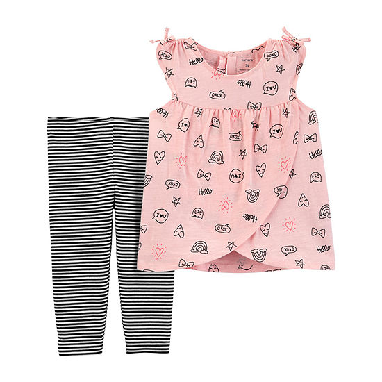 Carter's Capri 2-pc. Legging Set-Toddler Girls