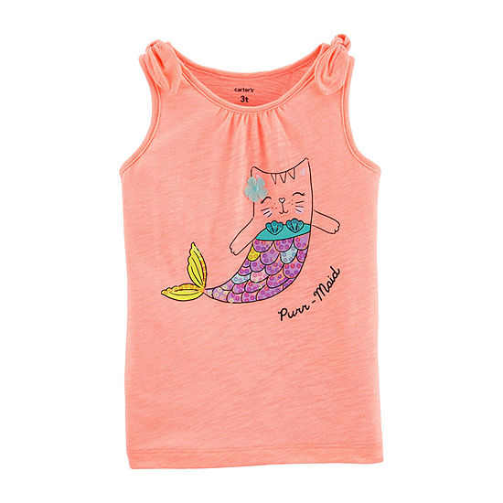 Carter's Girls Round Neck Tank Top - Toddler