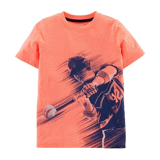 Carters Boys Round Neck Short Sleeve Graphic T Shirt Preschool Big Kid