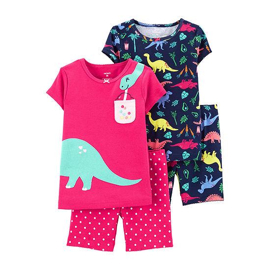 Carters 4 Pc Pajama Set Toddler Girls