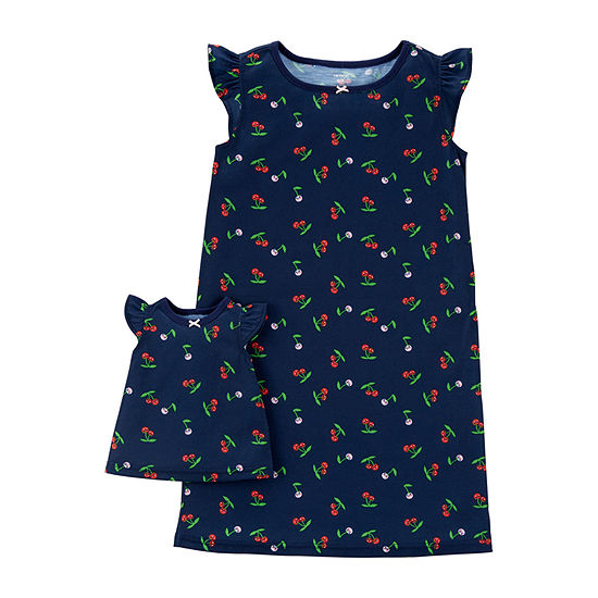 Carter's 2-Pk. Doll 2-pc. Girls Knit Nightgown Round Neck