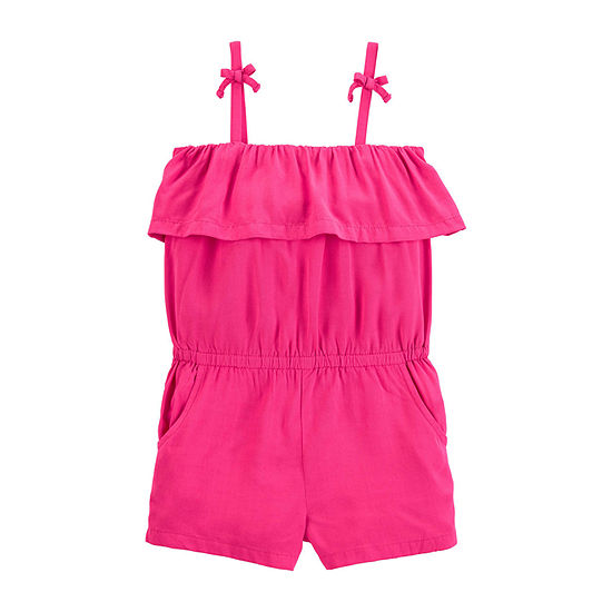 Carter's Girls Sleeveless Romper - Toddler