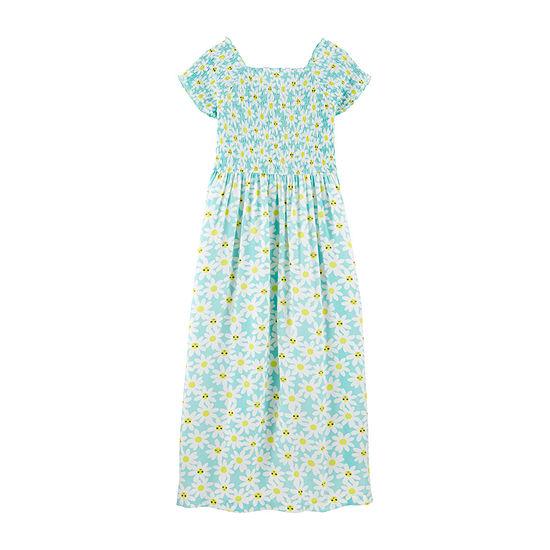 Carter's Girls Short Sleeve Cap Sleeve Sundress - Preschool / Big Kid