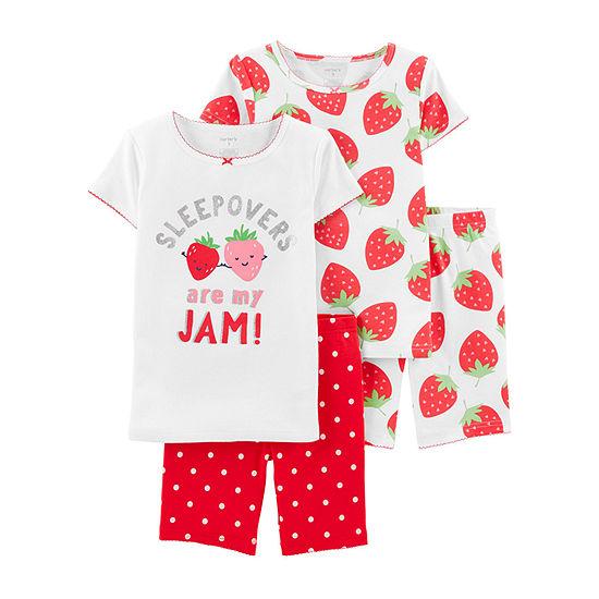 Carter's Girls 4-pc. Pajama Set Preschool / Big Kid