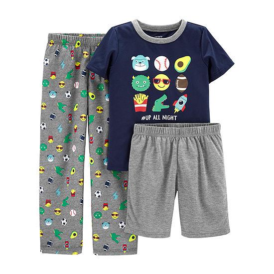 Carters 3 Pc Pajama Set Preschool Big Kid Boys