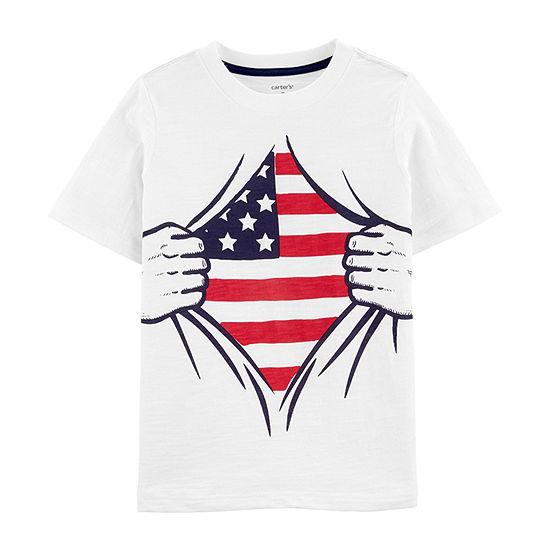 Carter's Boys Crew Neck Short Sleeve T-Shirt Preschool / Big Kid