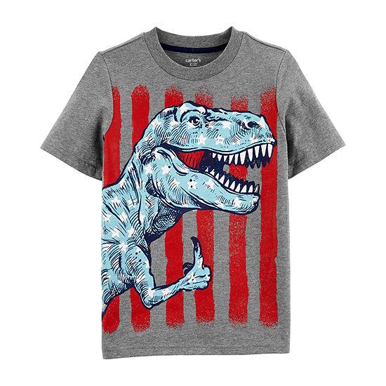 515baee23 Carter's Boys Crew Neck Short Sleeve T-Shirt Preschool / Big Kid - JCPenney