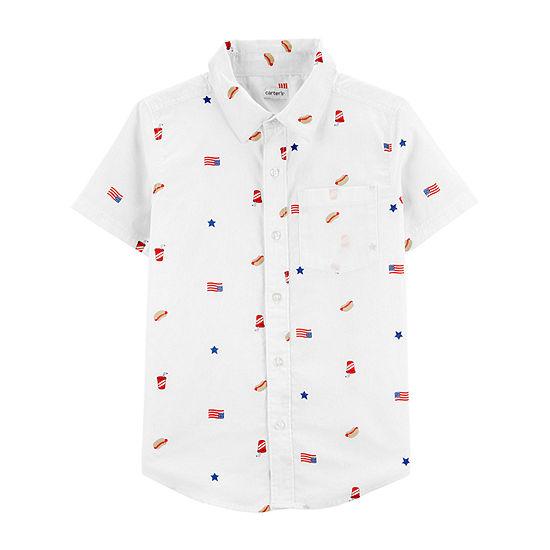 Carter's Little & Big Boys Short Sleeve Button-Down Shirt