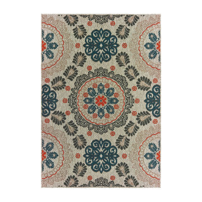 Covington Home Latrell Medallion Rectangular Indoor/Outdoor Rugs