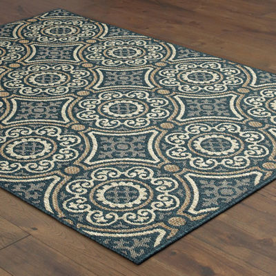 Covington Home Latrell Disks Rectangular Indoor/Outdoor Rugs