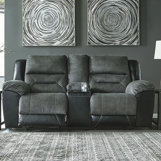 Signature Design by Ashley® Earhart Reclining Loveseat with Console