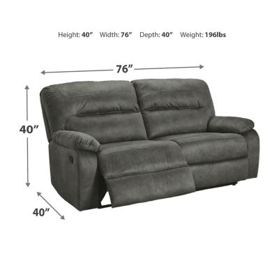 Signature Design by Ashley® Bolzano Pad-Arm Reclining Sofa