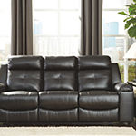 Signature Design by Ashley® Kempten Pad-Arm Reclining Sofa