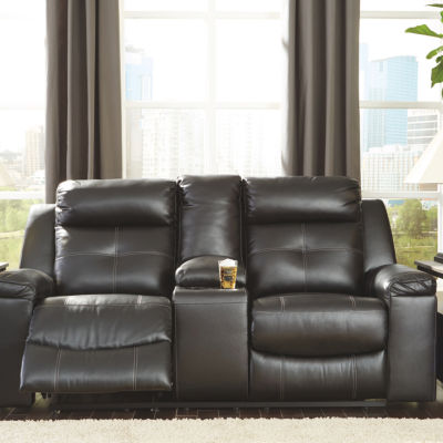 Signature Design by Ashley® Kempten Pad-Arm Reclining Loveseat