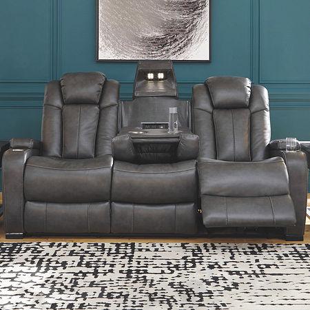 Signature Design by Ashley Turbulance Track-Arm Sofa, One Size , Gray