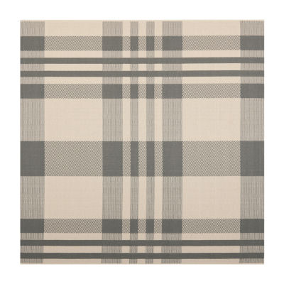 Safavieh Courtyard Collection Cori Plaid Indoor/Outdoor Square Area Rug