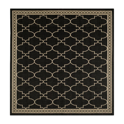 Safavieh Courtyard Collection Mitchell Geometric Indoor/Outdoor Square Area Rug