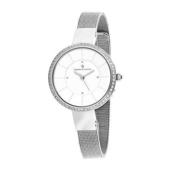 Christian Van Sant Womens Stainless Steel Bracelet Watch - Cv0220