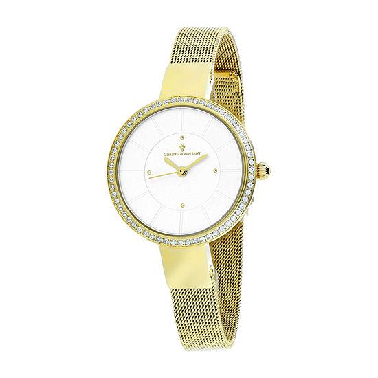 Christian Van Sant Womens Stainless Steel Bracelet Watch-Cv0222