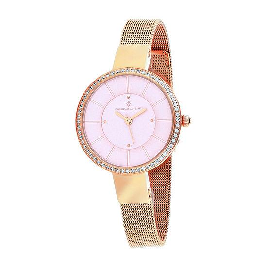 Christian Van Sant Womens Rose Goldtone Stainless Steel Bracelet Watch-Cv0223