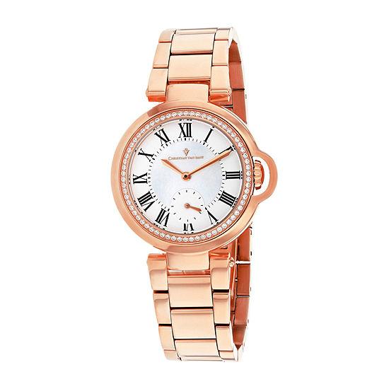 Christian Van Sant Womens Rose Goldtone Stainless Steel Bracelet Watch - Cv0232