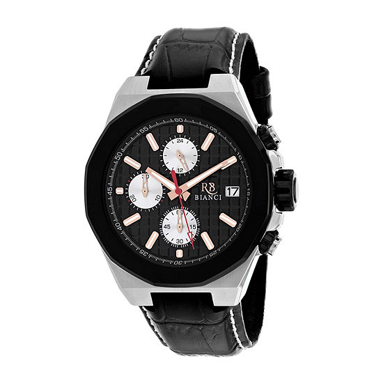 Roberto Bianci Mens Black Strap Watch-Rb0131