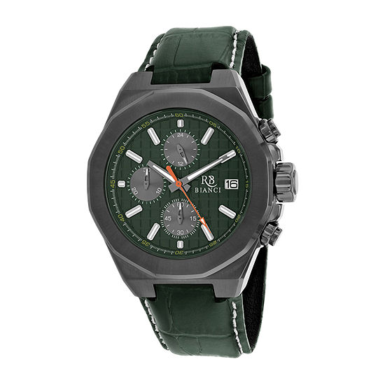 Roberto Bianci Mens Green Strap Watch-Rb0137