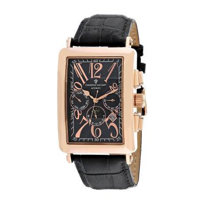 Christian Van Sant Mens Black Strap Watch-Cv9141