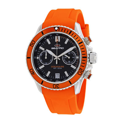 Sea-Pro Mens Orange Strap Watch-Sp0331