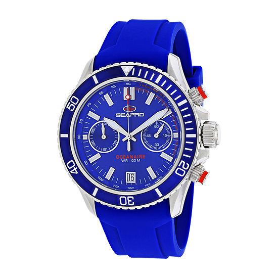 Sea-Pro Mens Blue Strap Watch-Sp0332