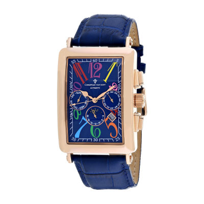 Christian Van Sant Mens Blue Strap Watch-Cv9144