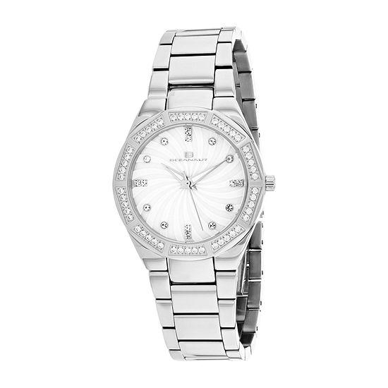 Oceanaut Womens Silver Tone Stainless Steel Bracelet Watch-Oc0250